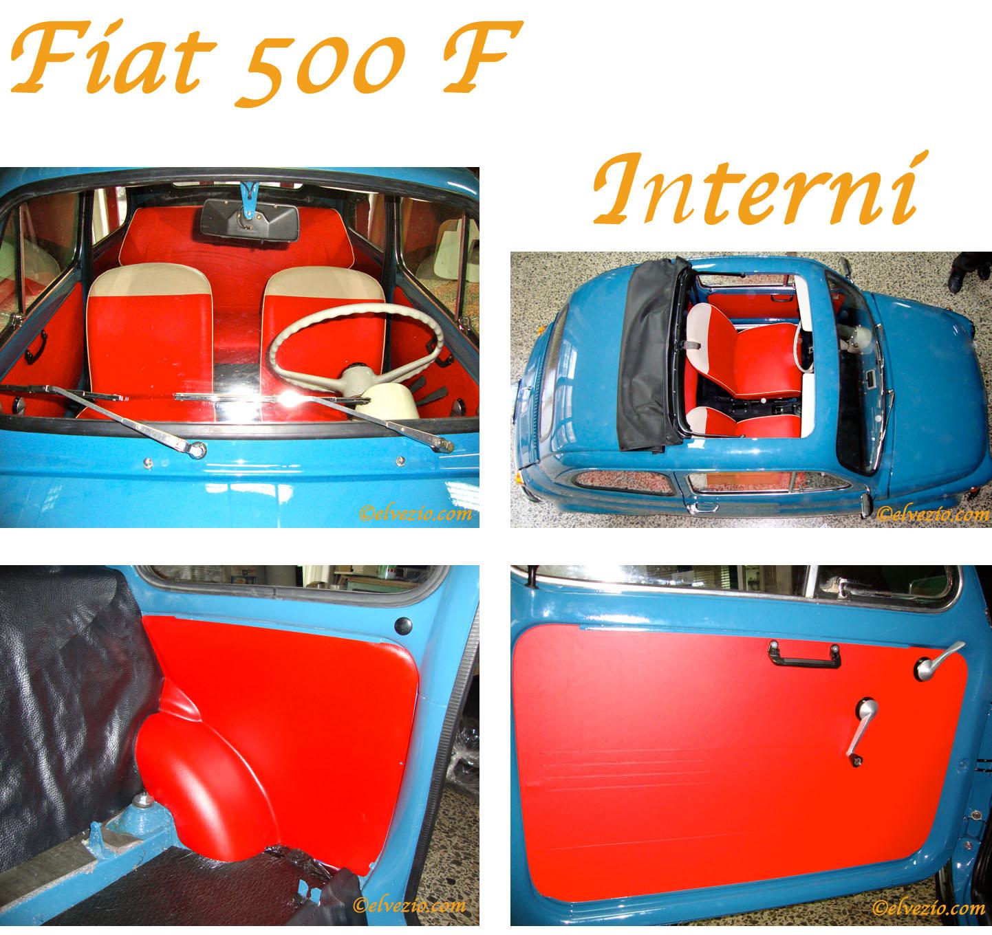 Fiat 500 f la tua auto d 39 epoca il nostro mondo for Moquette fiat 500 epoca