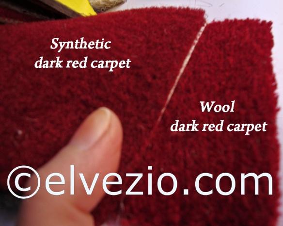 confronto moquette amaranto sintetica e in lana per alfa ss