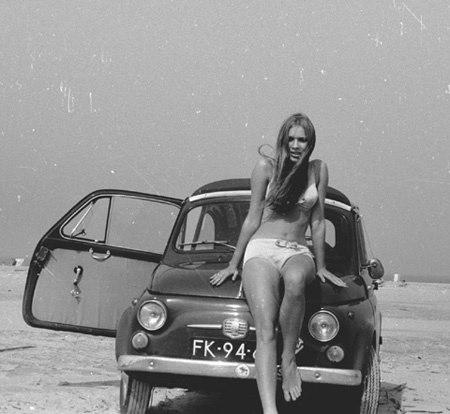 Fiat 500 epoca al mare