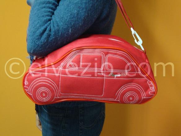 borsa fiat 500 rossa bordo rosso
