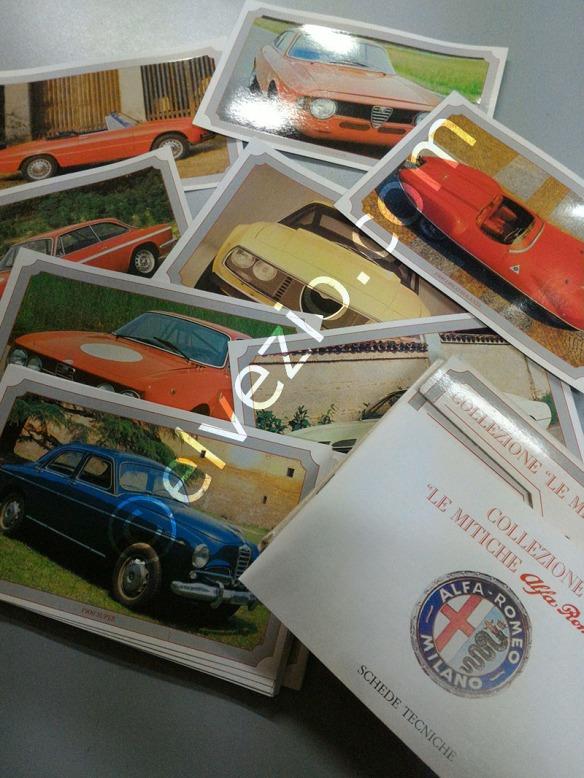 cartoline da collezione alfa romeo collection cards la tua auto d 39 epoca il nostro mondo. Black Bedroom Furniture Sets. Home Design Ideas