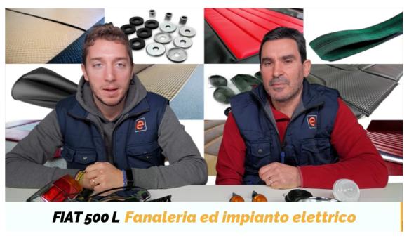 fanaleria e all'impianto elettrico Fiat 500 L