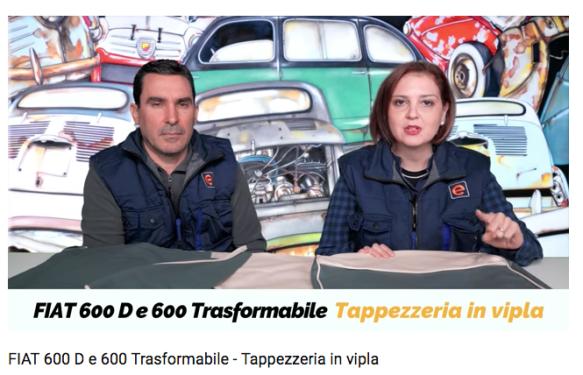 FIAT 600 D e 600 Trasformabile - Tappezzeria in vipla