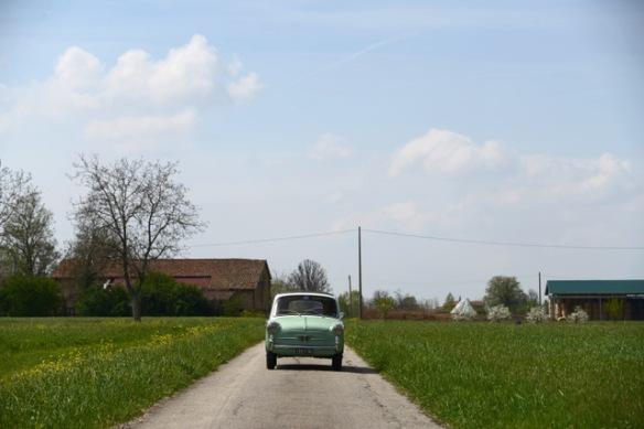 Bianchina Trasformabile in campagna
